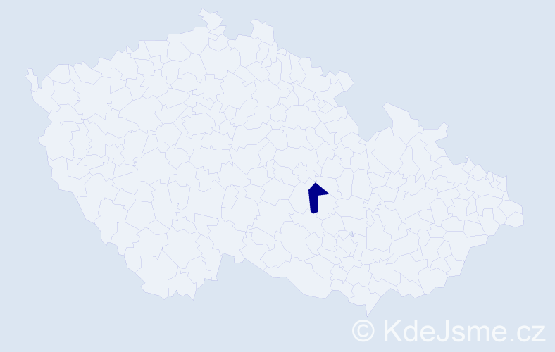 Příjmení: 'Canalas', počet výskytů 1 v celé ČR