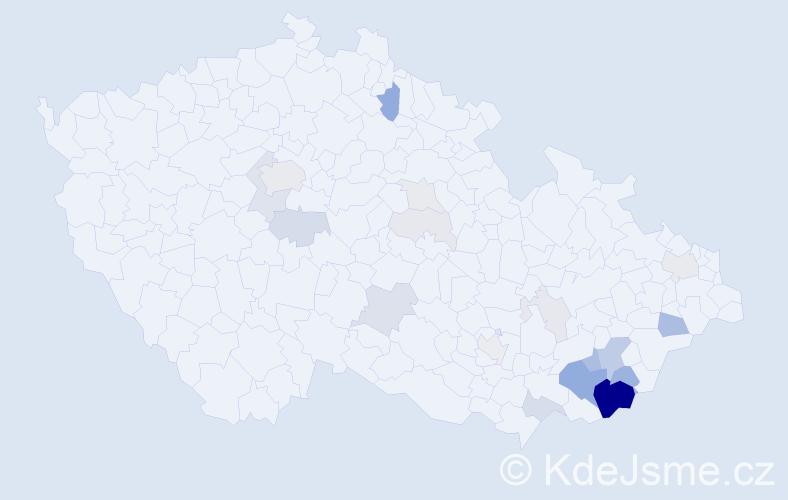 Příjmení: 'Guryča', počet výskytů 79 v celé ČR