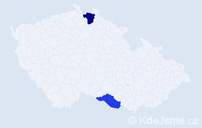 Příjmení: 'Glasr', počet výskytů 3 v celé ČR
