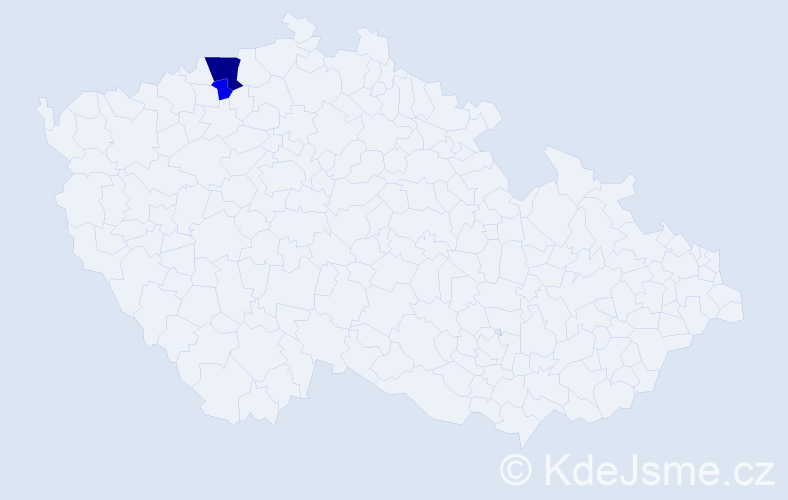 Příjmení: 'Gessel', počet výskytů 6 v celé ČR