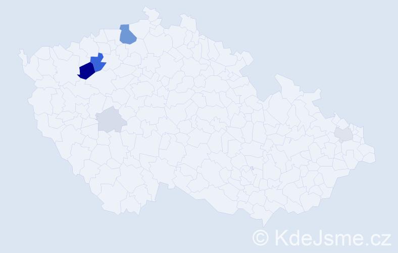 Příjmení: 'Darvas', počet výskytů 19 v celé ČR