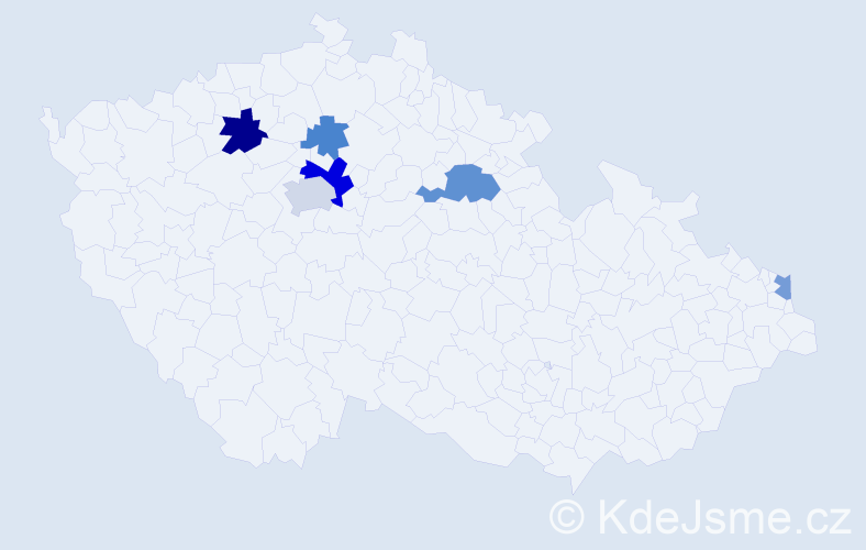 Příjmení: 'Bojadžiev', počet výskytů 11 v celé ČR