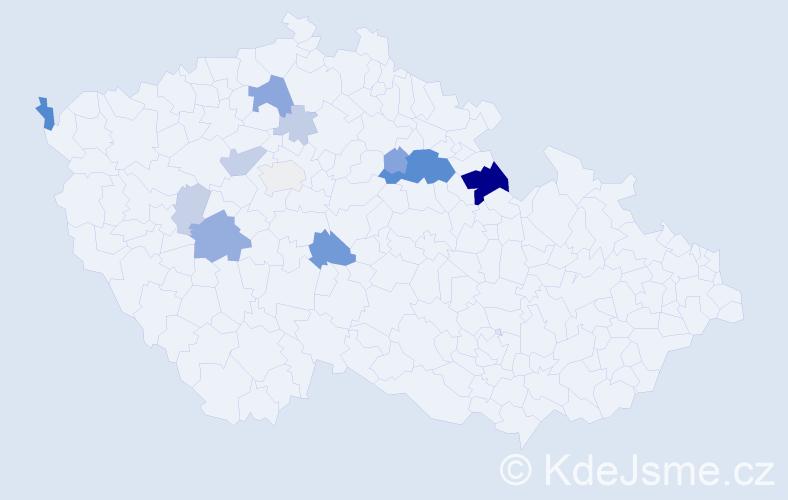 Příjmení: 'Káda', počet výskytů 35 v celé ČR