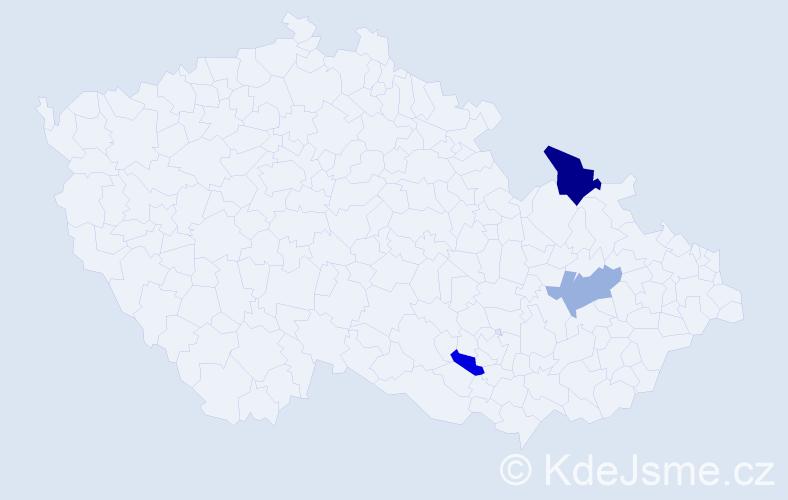 Příjmení: 'Čuj', počet výskytů 12 v celé ČR