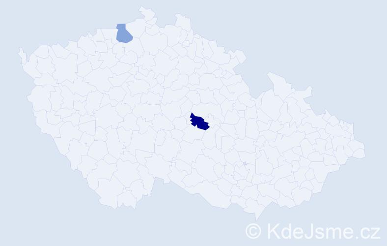 Příjmení: 'Güldner', počet výskytů 4 v celé ČR