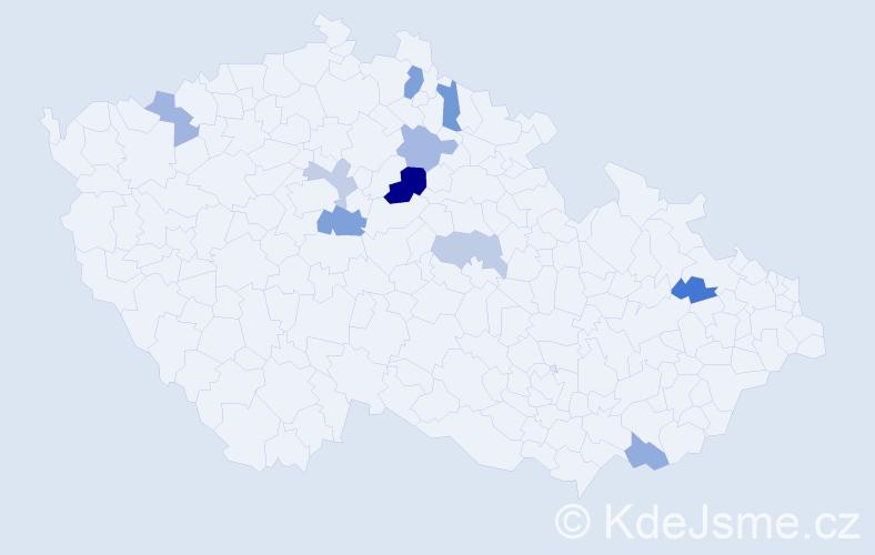 Příjmení: 'Höcková', počet výskytů 15 v celé ČR