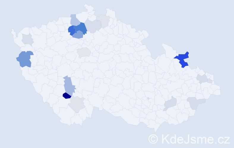 Příjmení: 'Ebelová', počet výskytů 47 v celé ČR