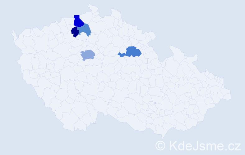 Příjmení: 'Čičovský', počet výskytů 12 v celé ČR