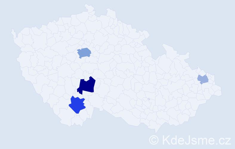 Příjmení: 'Catalano', počet výskytů 10 v celé ČR