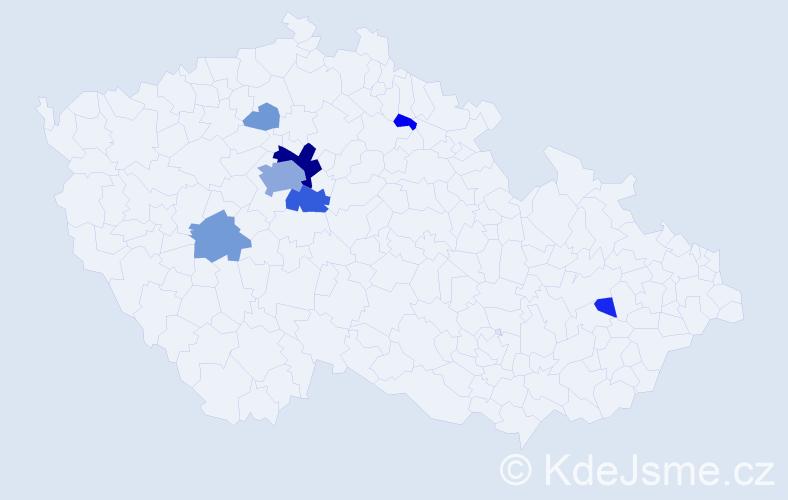 Příjmení: 'Enc', počet výskytů 28 v celé ČR