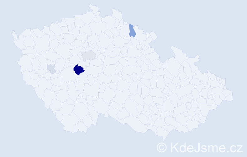 Příjmení: 'Gerntová', počet výskytů 8 v celé ČR