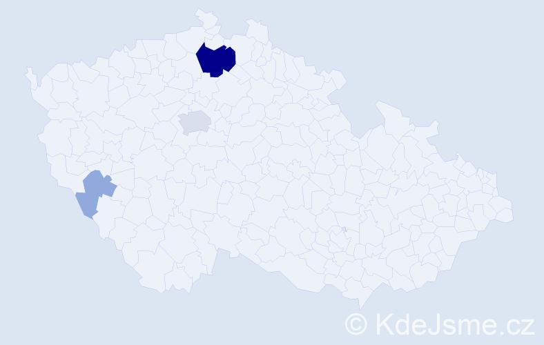 Příjmení: 'Lehončáková', počet výskytů 11 v celé ČR