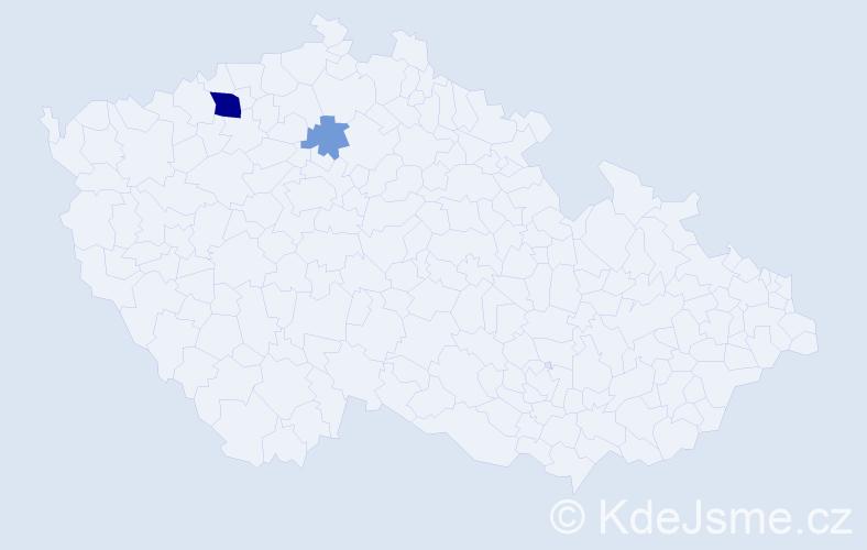 Příjmení: 'Cinoltr', počet výskytů 6 v celé ČR