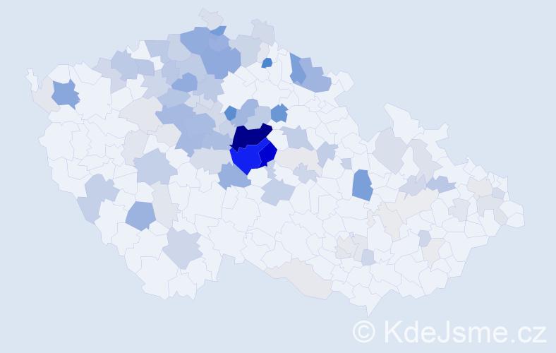 Příjmení: 'Kruliš', počet výskytů 362 v celé ČR
