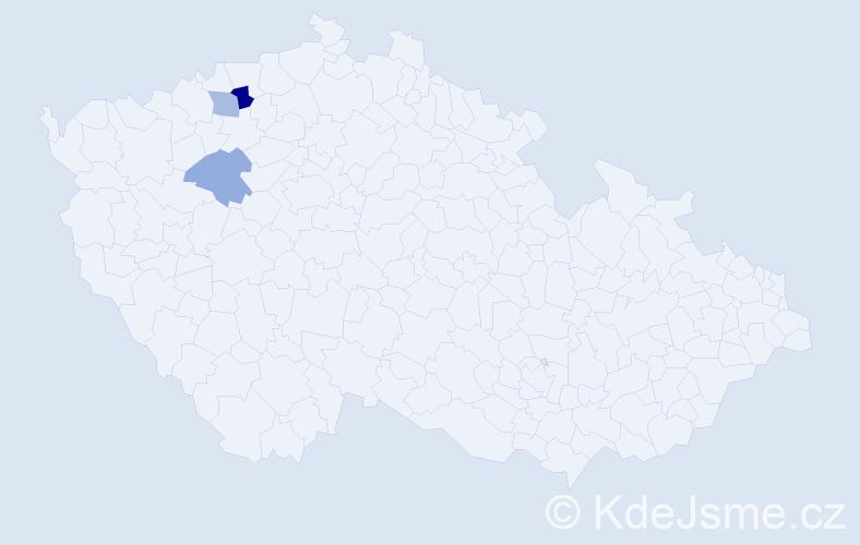 Příjmení: 'Drégrová', počet výskytů 4 v celé ČR