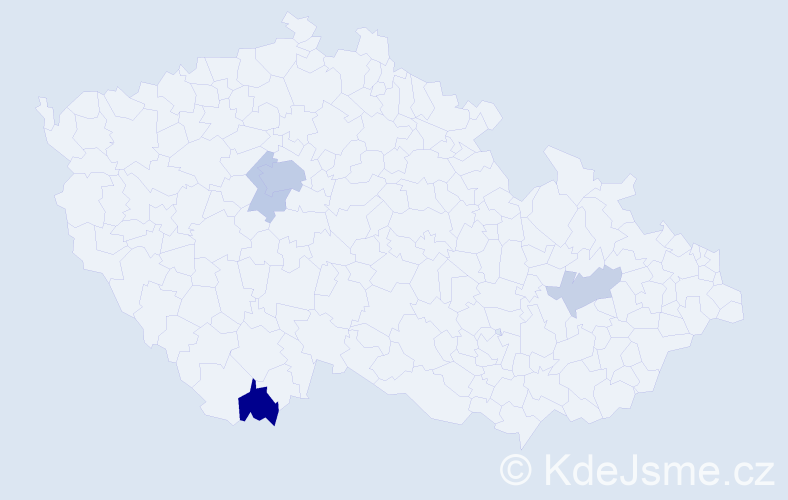 Příjmení: 'Andršt', počet výskytů 11 v celé ČR
