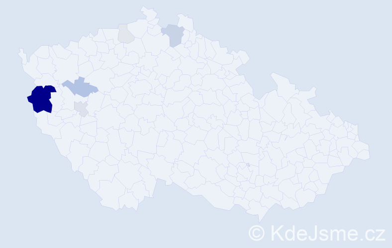 Příjmení: 'Gomolák', počet výskytů 20 v celé ČR