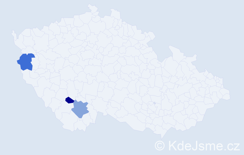 Příjmení: 'Kofl', počet výskytů 20 v celé ČR
