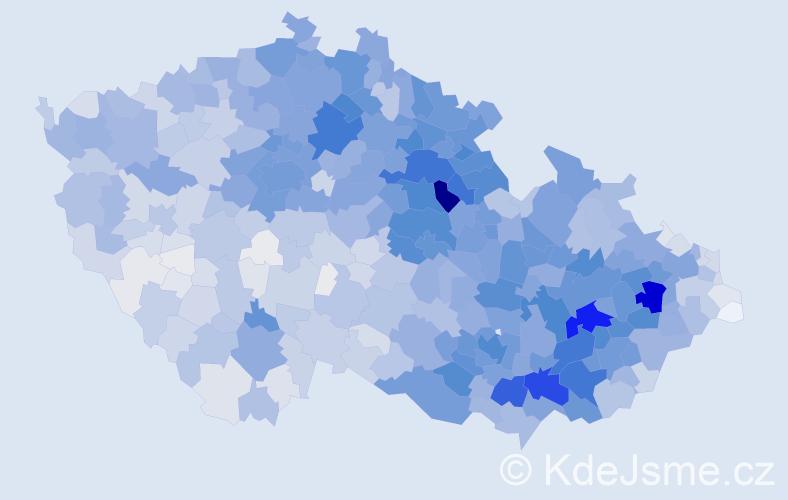 Příjmení: 'Horák', počet výskytů 12186 v celé ČR