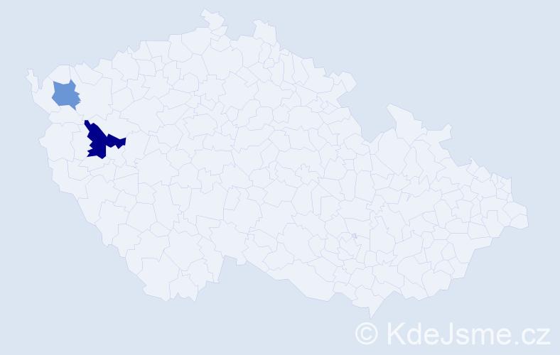 Příjmení: 'Belinská', počet výskytů 3 v celé ČR