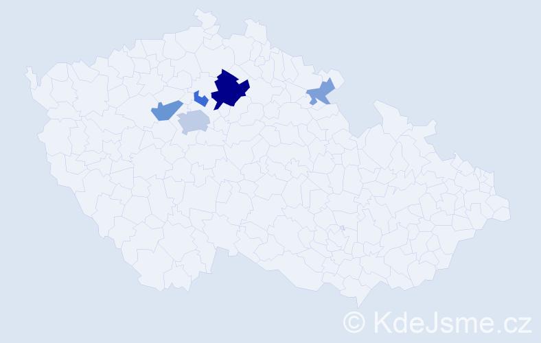 Příjmení: 'Jechumtál', počet výskytů 13 v celé ČR