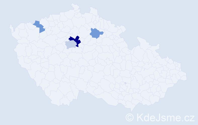 Příjmení: 'Jurkanin', počet výskytů 11 v celé ČR