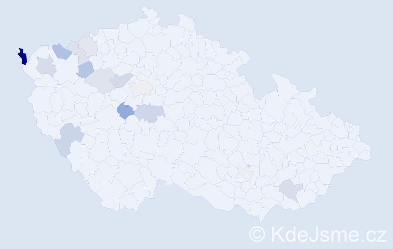 Příjmení: 'Biroš', počet výskytů 31 v celé ČR