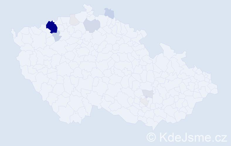 Příjmení: 'Malcovský', počet výskytů 40 v celé ČR