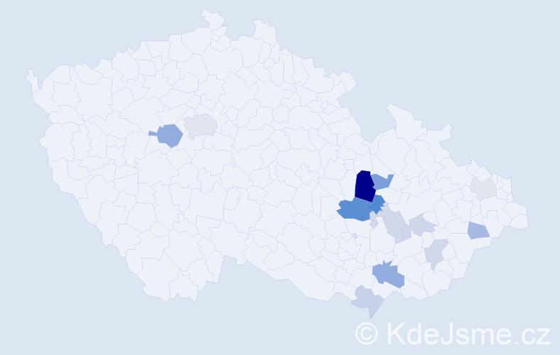 Příjmení: 'Čujanová', počet výskytů 25 v celé ČR