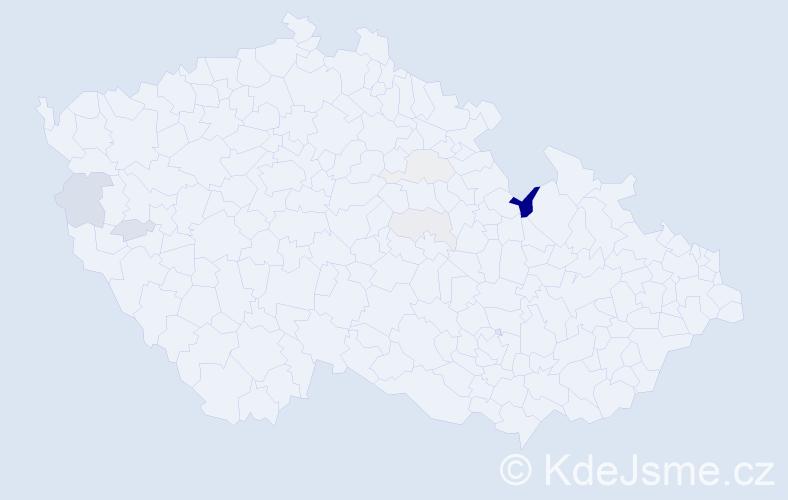 Příjmení: 'Halanič', počet výskytů 15 v celé ČR