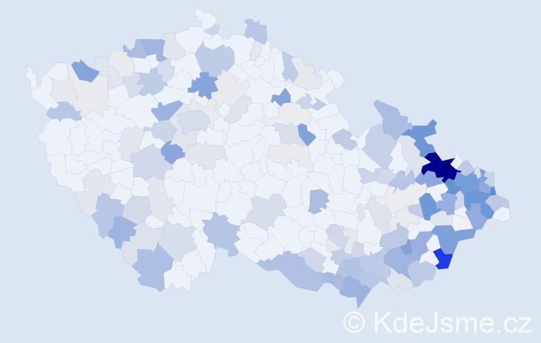 Příjmení: 'Kovalčík', počet výskytů 464 v celé ČR