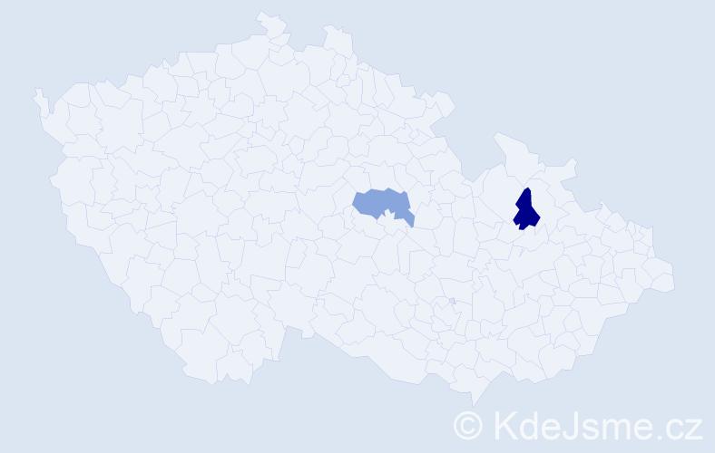 Příjmení: 'Echinger', počet výskytů 2 v celé ČR
