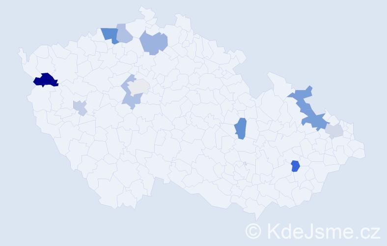Příjmení: 'Dvornický', počet výskytů 16 v celé ČR