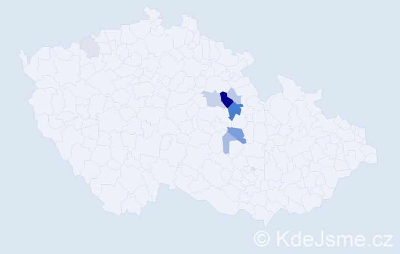 Příjmení: 'Fliger', počet výskytů 20 v celé ČR