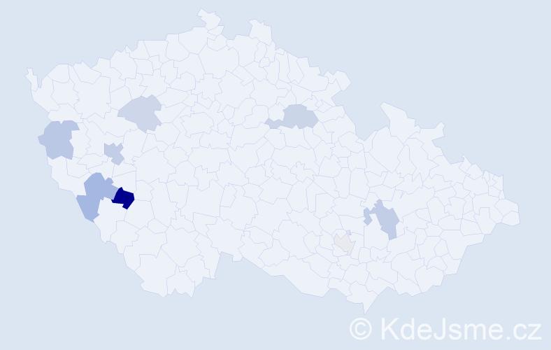 Příjmení: 'Ibrmajerová', počet výskytů 15 v celé ČR
