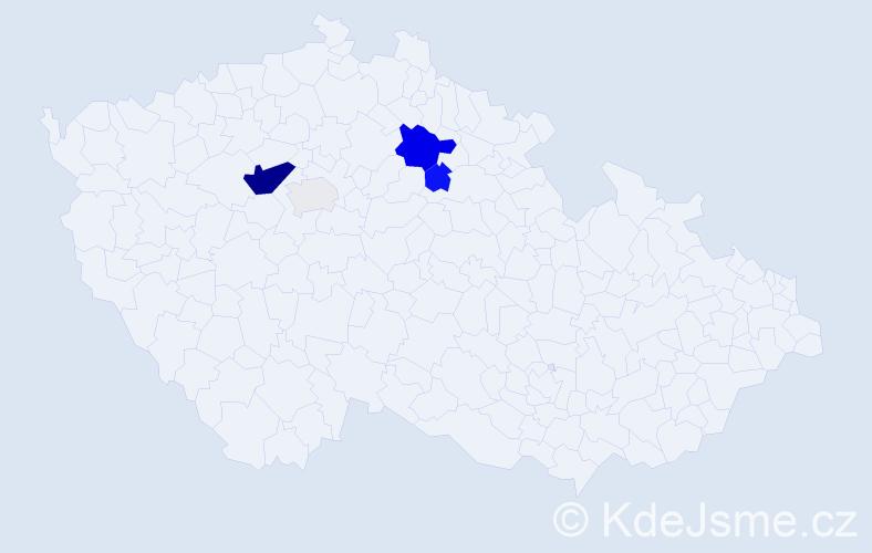 Příjmení: 'Hořejšek', počet výskytů 12 v celé ČR