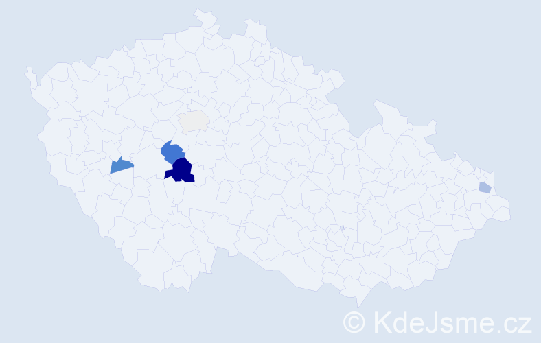 Příjmení: 'Eršek', počet výskytů 10 v celé ČR