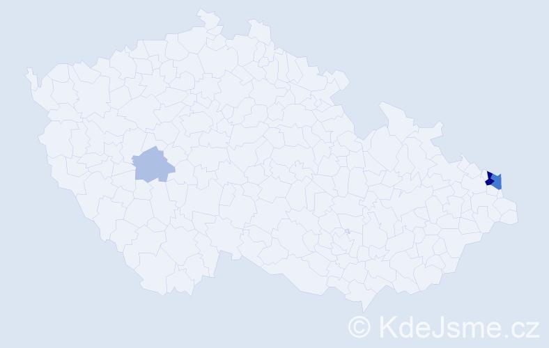 Příjmení: 'Drögsler', počet výskytů 10 v celé ČR