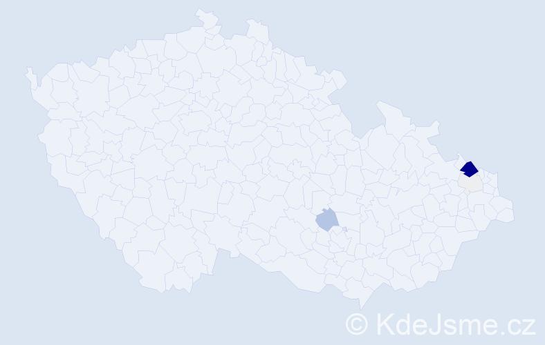 Příjmení: 'Kolaska', počet výskytů 26 v celé ČR