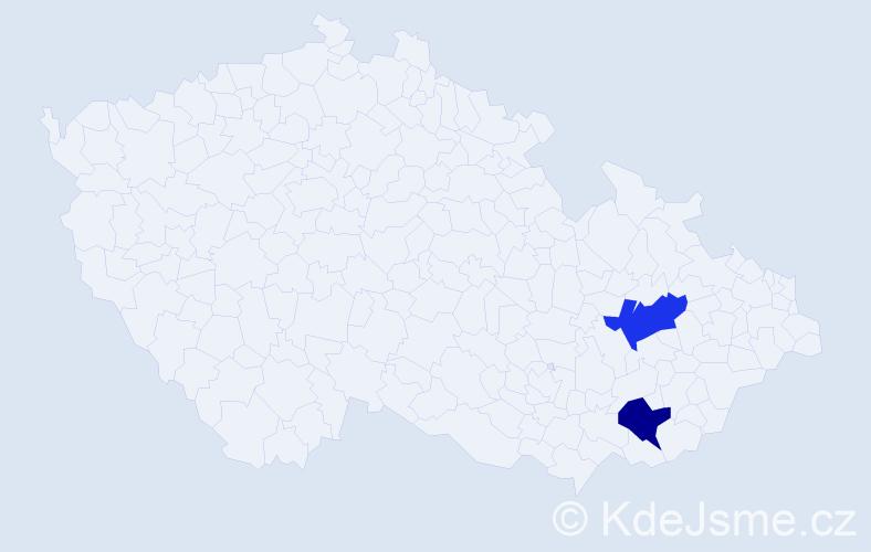 Příjmení: 'Ďuriaková', počet výskytů 2 v celé ČR