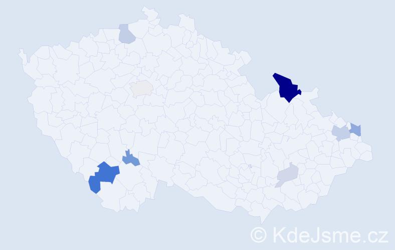 Příjmení: 'Balica', počet výskytů 28 v celé ČR