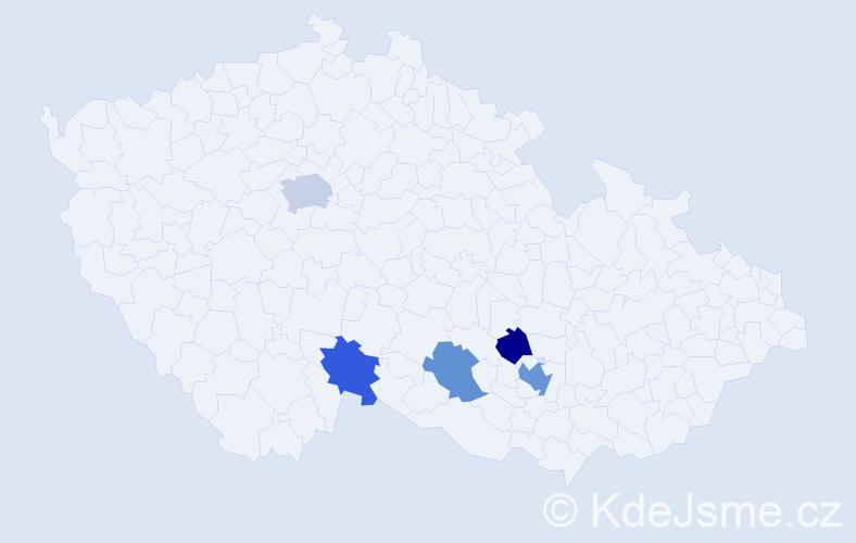 Příjmení: 'Helmanová', počet výskytů 8 v celé ČR