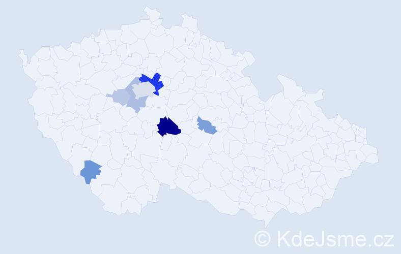 Příjmení: 'Lavír', počet výskytů 22 v celé ČR