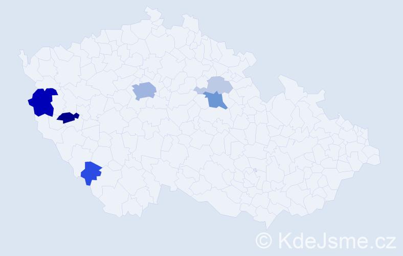 Příjmení: 'Ascherl', počet výskytů 20 v celé ČR