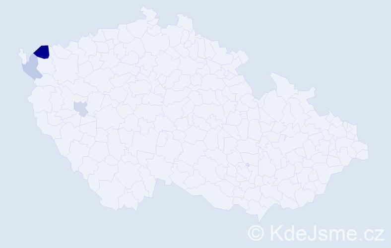 Příjmení: 'Bitrych', počet výskytů 10 v celé ČR