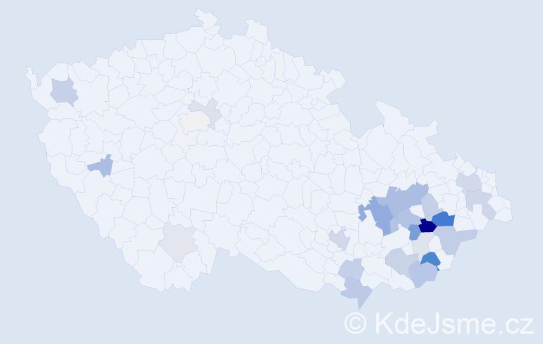 Příjmení: 'Ides', počet výskytů 58 v celé ČR
