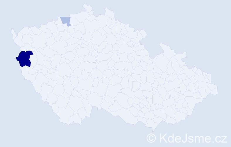 Příjmení: 'Conkov', počet výskytů 4 v celé ČR