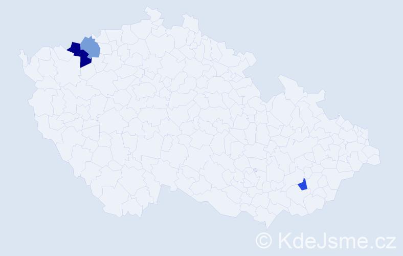 Příjmení: 'Harvánová', počet výskytů 4 v celé ČR