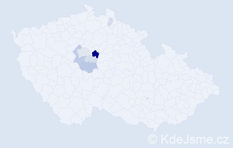 Příjmení: 'Fott', počet výskytů 20 v celé ČR