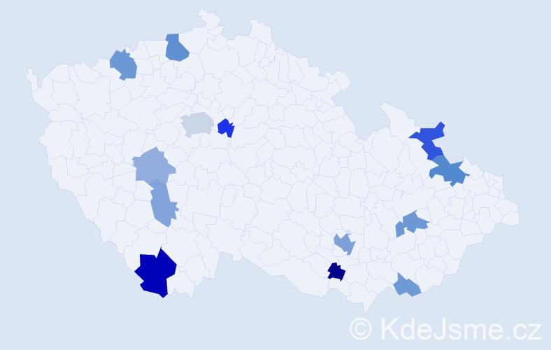 Příjmení: 'Lerche', počet výskytů 29 v celé ČR